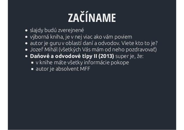 Hackovanie daní a odvodov pre web developerov Slide 2