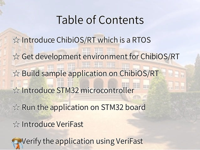 Table of ContentsTable of ContentsTable of ContentsTable of ContentsTable of Contents ☆ Introduce ChibiOS/RT which is a RT...