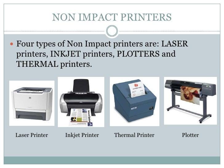 Types of printer.