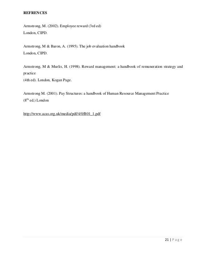 A Job Evaluation Report Evaluation Process