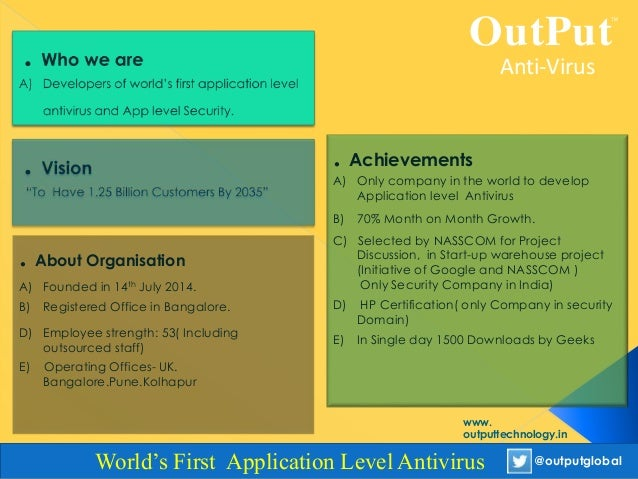 Output overview and presentation Slide 3