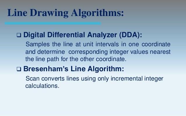 DIFFERENCE BETWEEN DDA AND BRESENHAM LINE ALGORITHM PDF