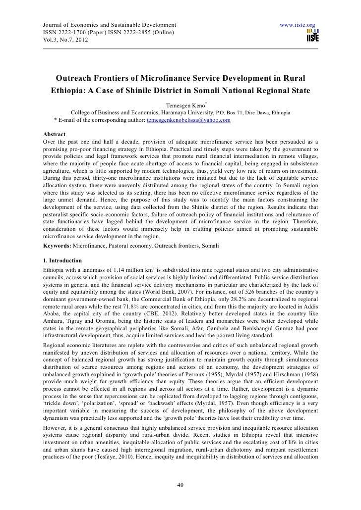 Journal of Economics and Sustainable Development                                                    www.iiste.orgISSN 2222...