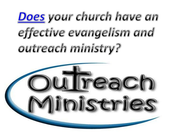 Is it possible for a church to achieve long-term  sustainability without an effective outreach                    ministry...