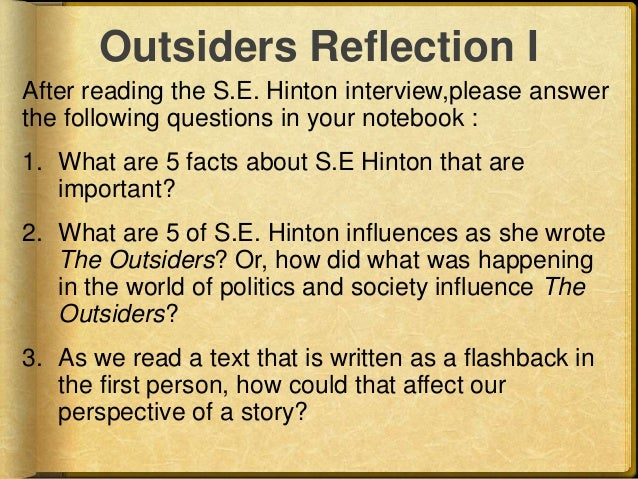 comprehensive analysis of the outsiders by s e hinton The outsiders by se hinton to help put the right book in each reader's hands, consider the following comprehensive text complexity analyses within your.