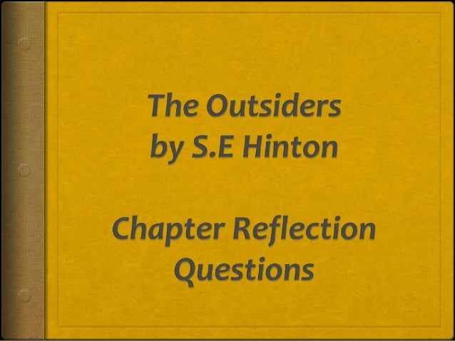 Outsiders essay johnny