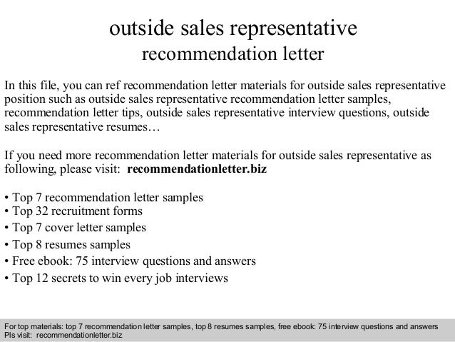 interview questions and answers free download pdf and ppt file outside sales representative recommendation - Outside Sales Cover Letter