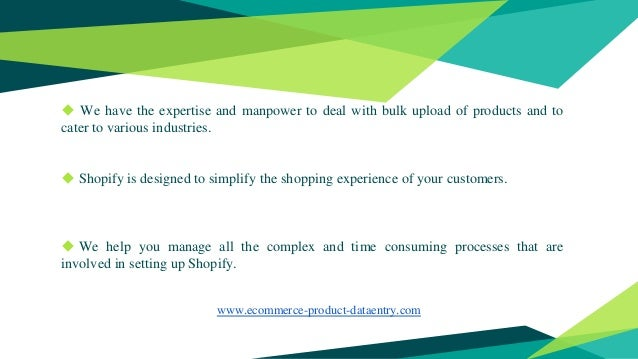 Shopify Product Data Entry Services - Ecommerce Product Data Entry (e…