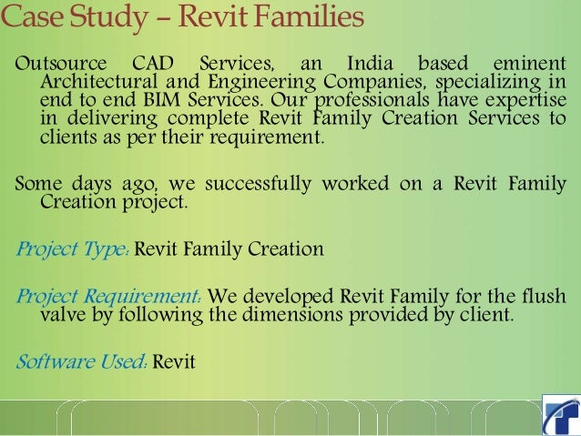 Outsource cad services delivers all types of Revit families