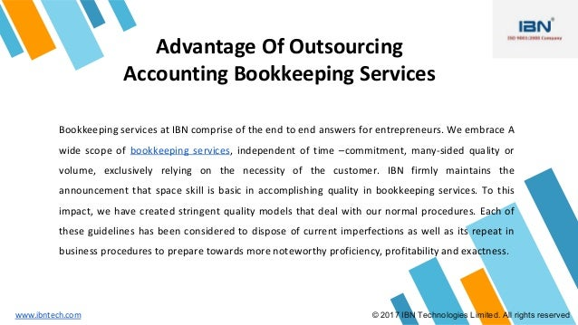 Outsourced Accounting Bookkeeping Services