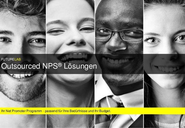 FUTURELAB FUTURELAB Ihr Net Promoter Programm - passend für Ihre Bedürfnisse und Ihr Budget. FUTURELAB Outsourced NPS® Lös...