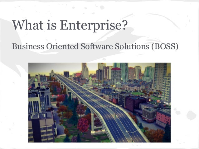What is Enterprise? Business Oriented Software Solutions (BOSS)