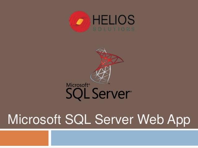Microsoft SQL Server Web App