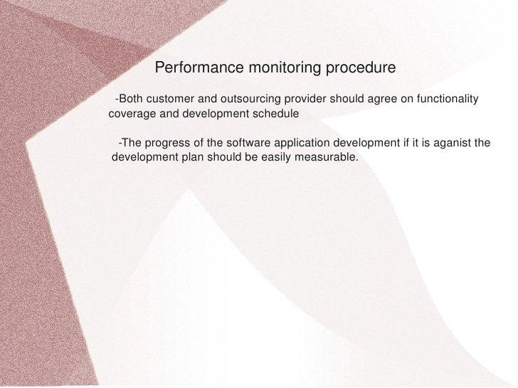Performancemonitoringprocedure  Bothcustomerandoutsourci...