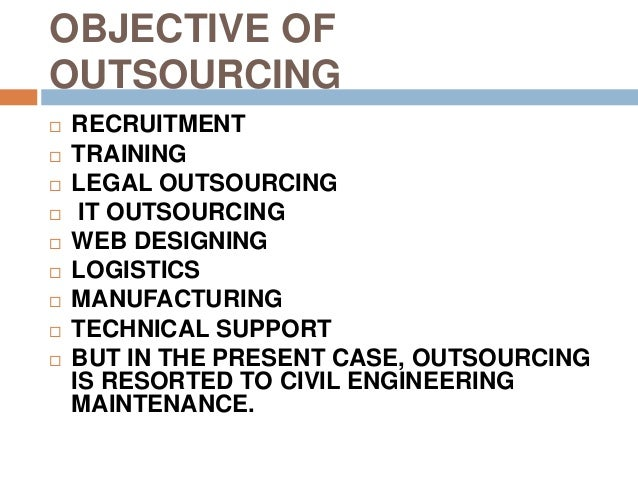 Engineering maintenance outsourcing thesis