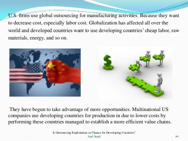 exploitation of workers in developing countries The third world countries such as vietnam, china, south korea, and taiwan   the nike example and how it has exploited workers in asia for financial gain   being as well as contribute to the community's overall development are the focus  of.
