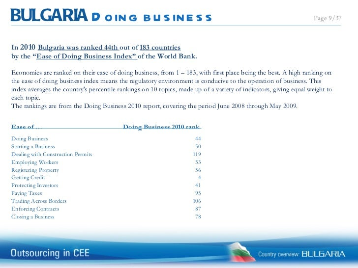 world bank ease of doing business report 2010 ford