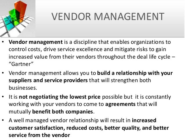 ... Vendor Relationship Contract Issues; 22.