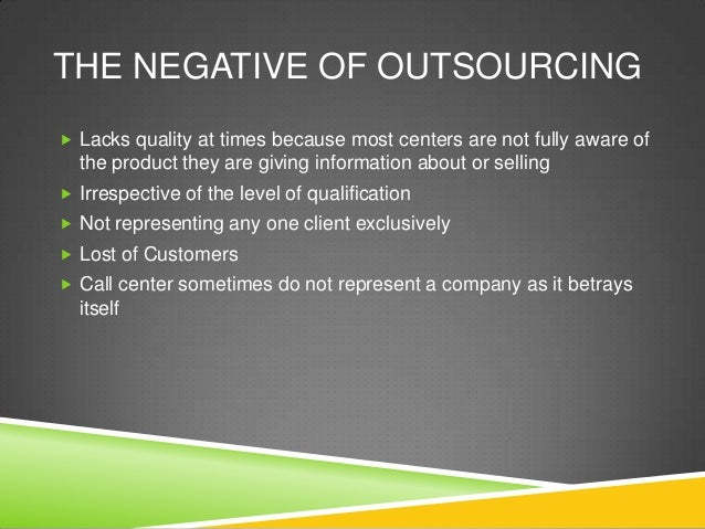 Technology Management Image: Outsourcing Call Centers Powerpoint