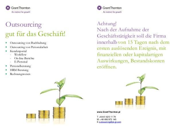 Outsourcing gut für das Geschäft! • Outsourcing von Buchhaltung • Outsourcing von Personalarbeit • Kundenportal - Workflow...