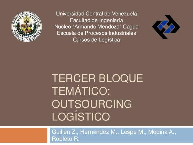 """Universidad Central de Venezuela Facultad de Ingeniería Núcleo """"Armando Mendoza"""" Cagua Escuela de Procesos Industriales Cu..."""