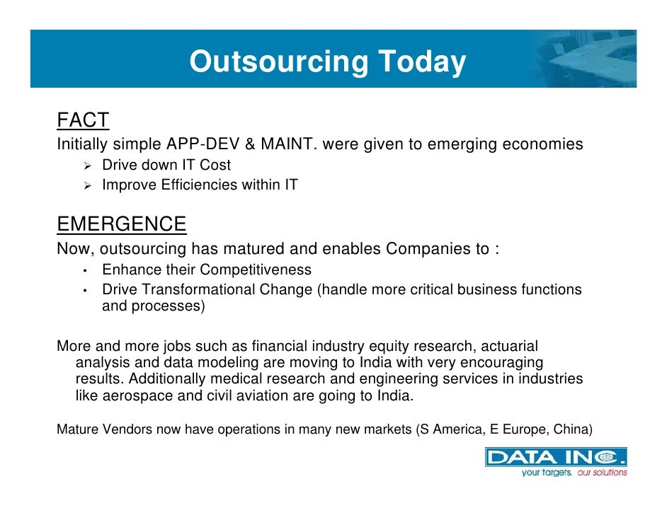 Outsourcing it development ppt presentation examples powerpoint.