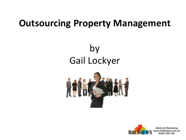Outsourcing Property Management by Gail Lockyer