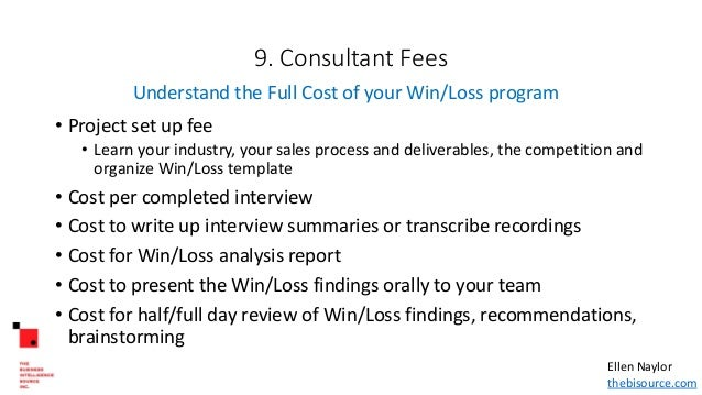 Outsourcing win loss analysis finding the right consultant