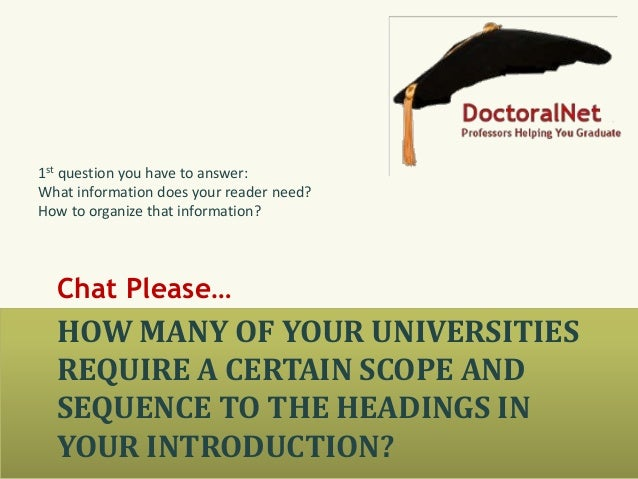 good introductions dissertations How to write your thesis compiled by kim kastens introduction you can't write a good introduction until you know what the body of the paper says.