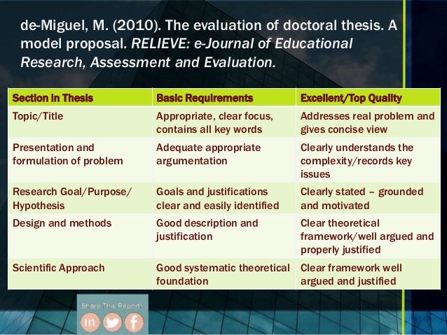 thesis educational research and evaluation The phd program in evaluation, measurement and research in the department of educational leadership, research and technology at western michigan university is.