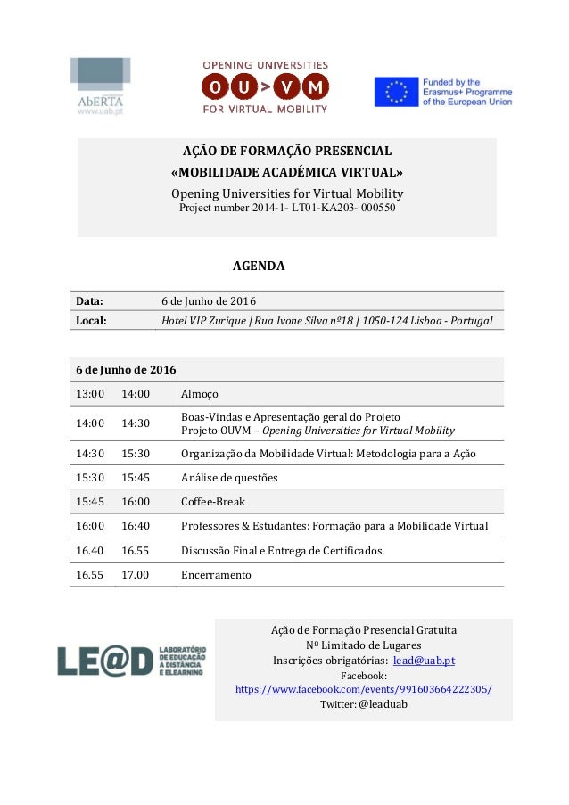 AGENDA Data: 6deJunhode2016 Local: HotelVIPZurique|RuaIvoneSilvanº18|1050‐124Lisboa‐Portugal   6d...