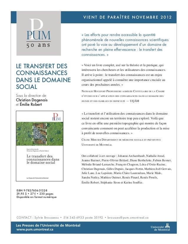 Planification urbaine et développementdurable à Grenoble, Lyon et Montréal e n t d e p a r a î t r e n o v e m b r e 2 0 1...