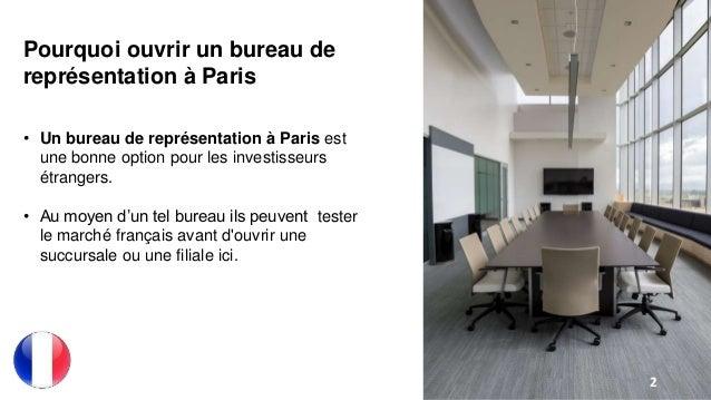 Ouvrir un bureau de représentation à paris