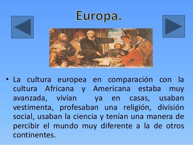 Generalidades De Los Continentes: Encuentro Cultural Africa- America