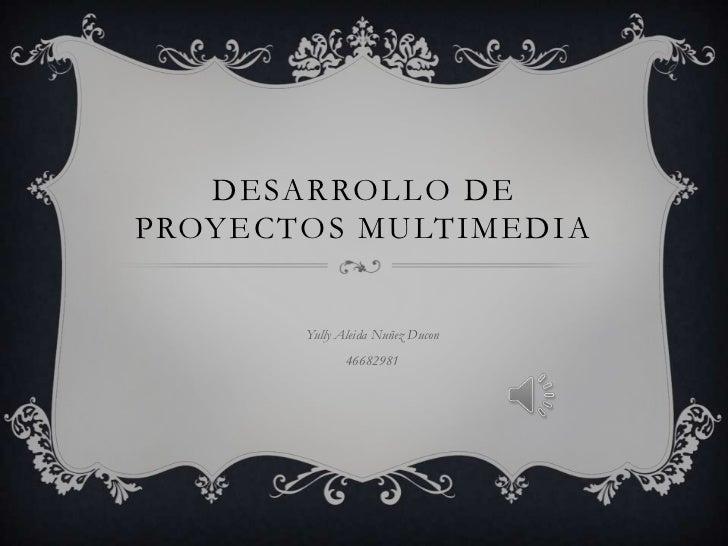 DESARROLLO DEPROYECTOS MULTIMEDIA       Yully Aleida Nuñez Ducon              46682981