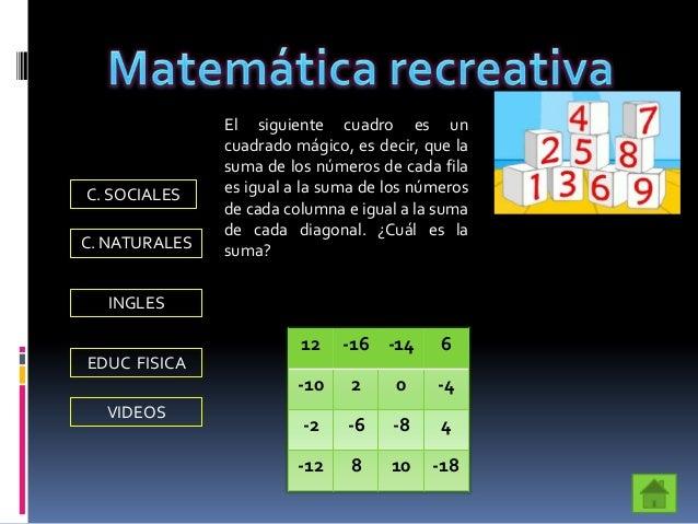 Bibliografía Mora. Ana, Chávez . Hugo. Matemáticas 7. Santillana Siglo XXI. Bogotá. 1999 http://es.wikipedia.org/wiki/N%...