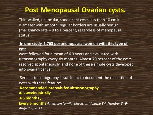 Ovarian Cyst In Perimenopause