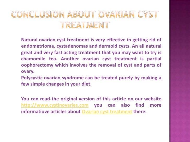 Ovarian Cyst Natural Treatment Diet