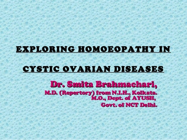 Exploring Homoeopathy in Cystic Ovarian diseases