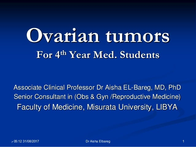 Ovarian Tumors For 4th Year Med Students
