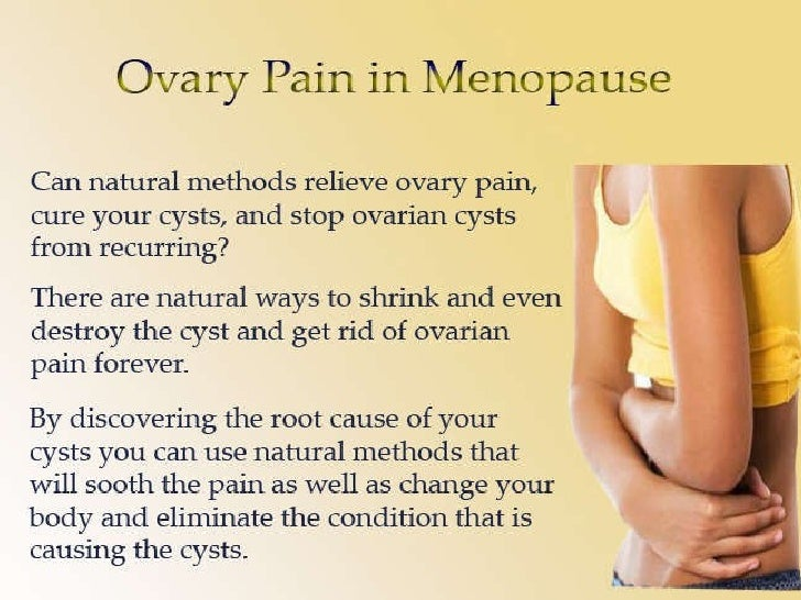 Ovary Pain In Menopause