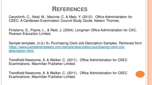 Duties And Attributes Of A Purchasing Clerk Assistant In The Procurem