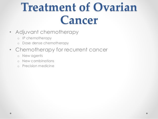 Strategies For Long Term Management Of Recurrent Ovarian Cancer