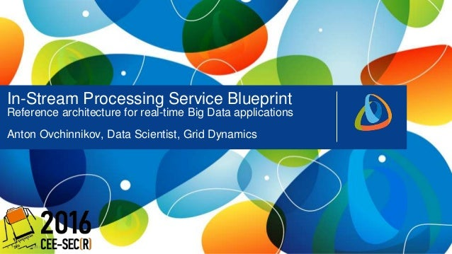 11 Public In-Stream Processing Service Blueprint Reference architecture for real-time Big Data applications Anton Ovchinni...