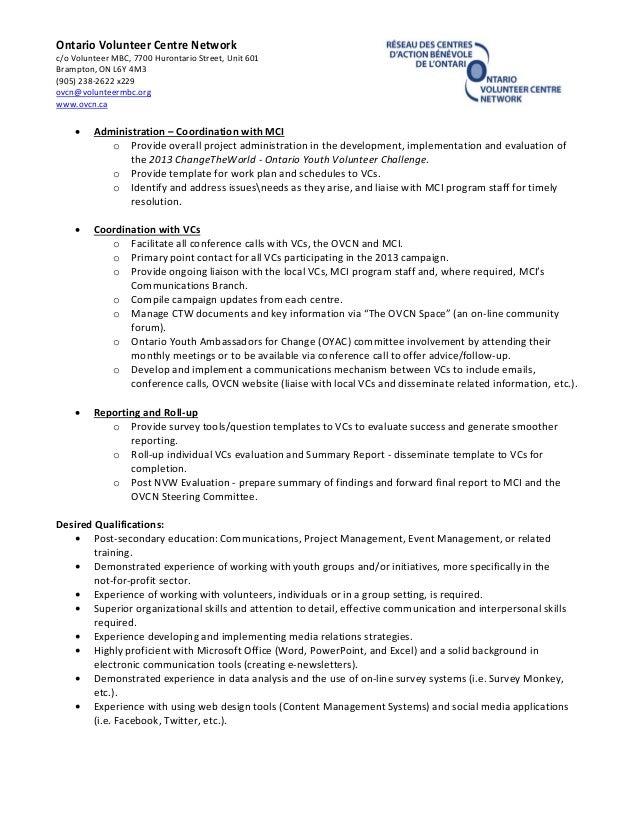 SlideShare  Outreach Coordinator Resume