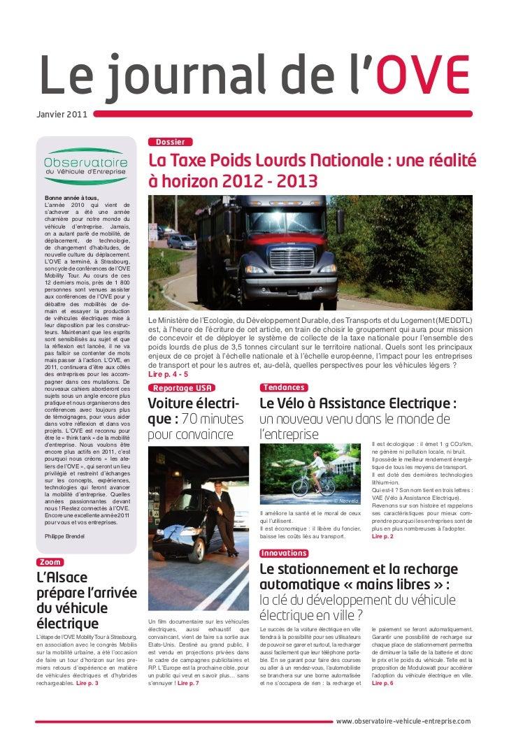 Le journal de l'OVEJanvier 2011                                                  Dossier                                  ...