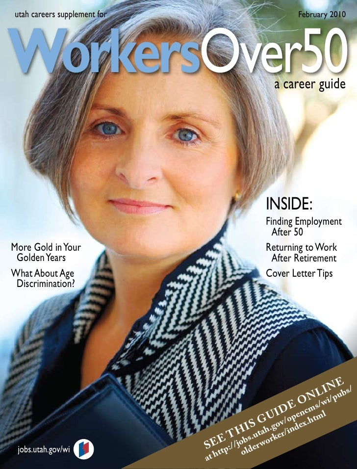 utah careers supplement for                            February 2010     WorkersOver50                                    ...