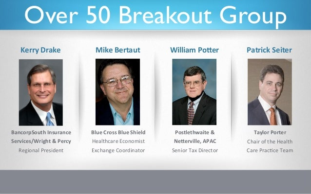 Over 50 Breakout Group     Kerry Drake                Mike Bertaut                  William PoAer            ...