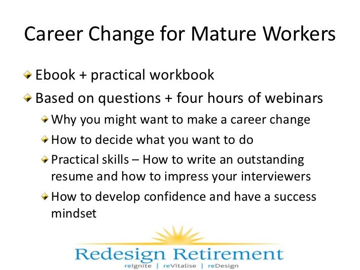 how to make a career change at 50