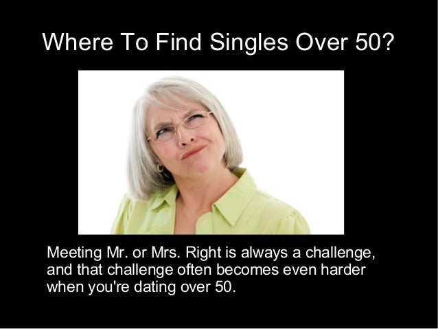 Dating statistics over 50
